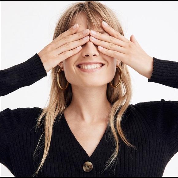 Madewell Jewelry - Madewell // Chunky Oval Hoop Earrings